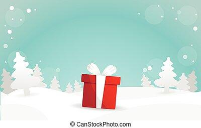 Best Christmas gift background vector