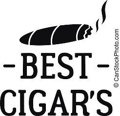 Best cigar logo, simple style