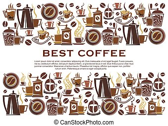 Best coffee cafeteria vector poster - Best coffee poster for...