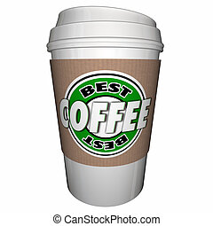 Best Coffee Caffeine Barista Brewer 3d Illustration
