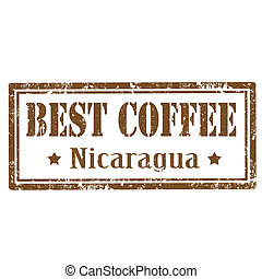 Grunge rubber stamp with text Best Coffee-Nicaragua, vector illustration