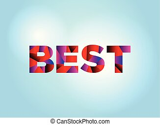 Best Concept Colorful Word Art