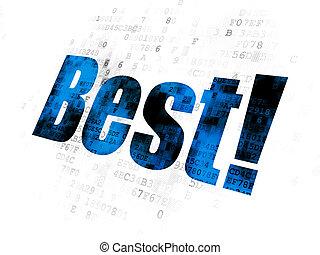 best!, concept:, finance, fond, numérique