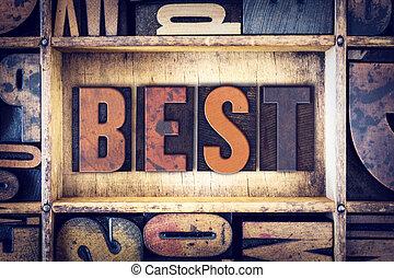 Best Concept Letterpress Type