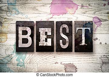 Best Concept Metal Letterpress Type