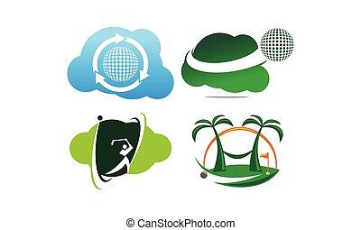 Best Course Golf Template Set