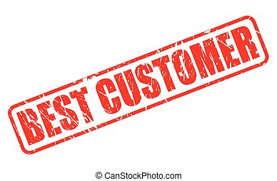 BEST CUSTOMER red stamp text