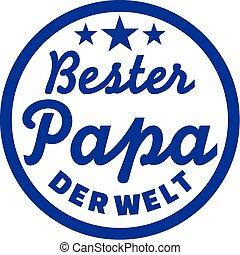 Best Dad of the world German