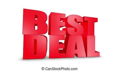 Best Deal 3D Text Come Down 3D Animation Render.