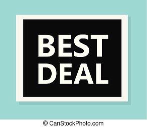 best deal concept