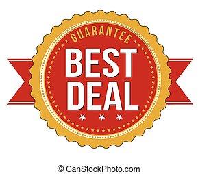 Best deal guarantee badge