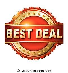 Best deal guarantee golden label