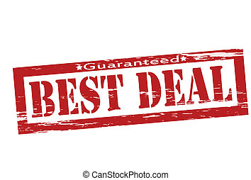 Stamp with text best deal inside, vector illustration