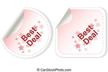 Best Deal stickers Button set card