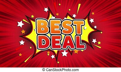Best Deal Text Pop Art Style Comic Expression.