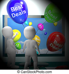 Best Deals Balloons Represent Bargains 3d Rendering