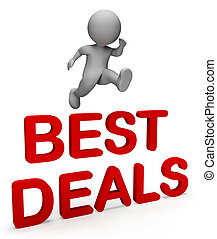 Best Deals Indicates Number One And Bargain 3d Rendering - ...