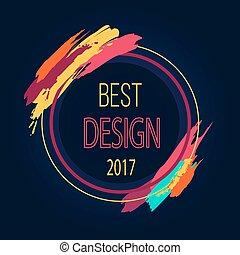 Best Design 2017 Round Frame Border Art Brush