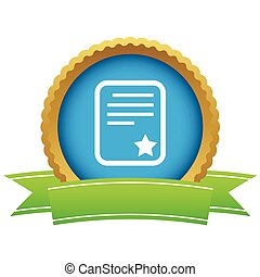 Best document certificate icon