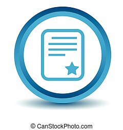 Best document icon, blue, 3D