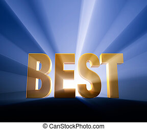 "Best - Dramatic, gold ""BEST"" on dark blue background and..."