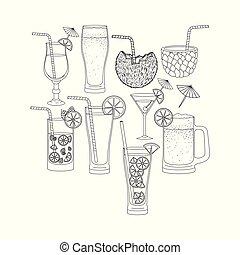 best drinks set icons
