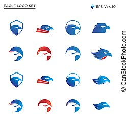 Best Eagle Head Logo Collection Set