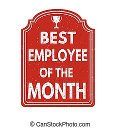 Best employee of the month stamp