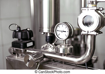 Brewing mechanisms consisting of pipes and gauges