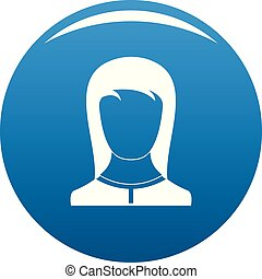 Best female avatar icon blue vector
