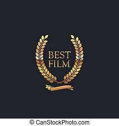Best Film Award Sign.