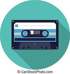 flat icon cassette
