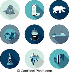 flat icons Arctic