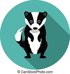 flat icons badger