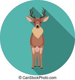 flat  icons deer