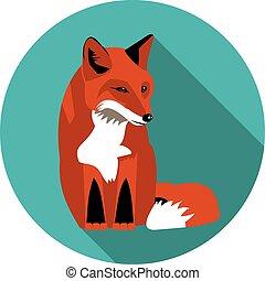 flat  icons Fox