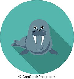 flat icons walrus - best flat icons walrus in vector format