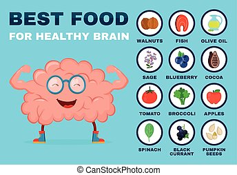Best food for strong brain. Strong healthy