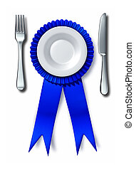 Best Food - Best food cooking concept as a fork knife and...