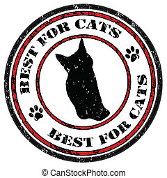 Best for cats stamp
