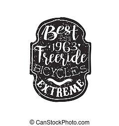 Best Freeride Vintage Badge