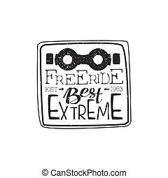 Best Freeride Vintage Label