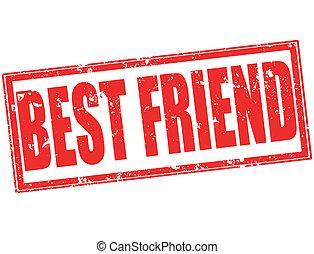 best friend grunge stamp on whit vector illustration