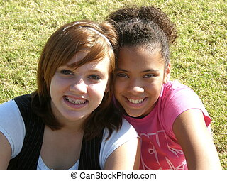 Best Friends - A picture of two teenager girls smiling ...