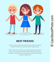 Best Friends Boys Girls Poster of Active Kids