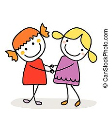 best friends vector clipart illustrations 5 754 best friends clip rh canstockphoto ca Clip Art bff birthday clipart