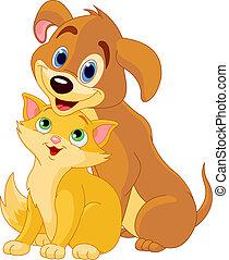 Best friends ever - Cute Dog and Cat Best Friends Ever