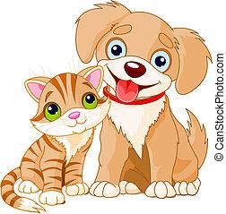 Cute Puppy and Kitten Best Friends Ever