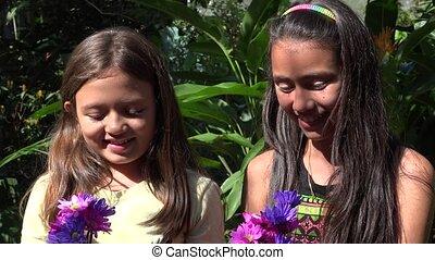 Best Friends in Flower Garden