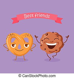 Best Friends Soft Pretzel and Chocolate Biscuit